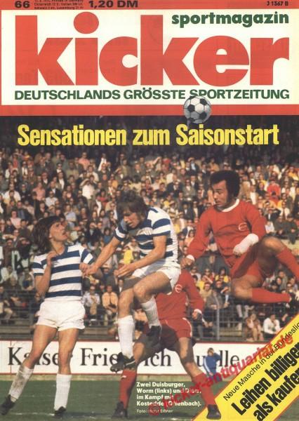 Kicker Sportmagazin Nr. 66, 13.8.1973 bis 19.8.1973