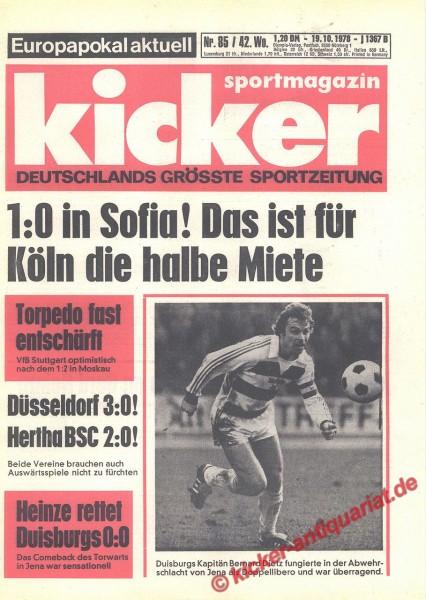 Kicker Sportmagazin Nr. 85, 19.10.1978 bis 25.10.1978
