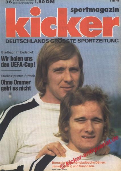 Kicker Sportmagazin Nr. 36, 5.5.1975 bis 11.5.1975