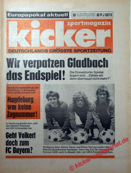 Kicker Sportmagazin Nr. 39, 9.5.1974 bis 15.5.1974