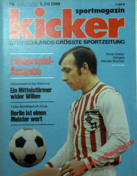 Kicker Sportmagazin Nr. 18, 25.2.1974 bis 3.3.1974