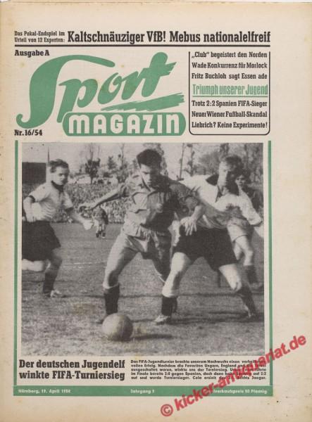 Sportmagazin Nr. 16A, 20.4.1954 bis 26.4.1954