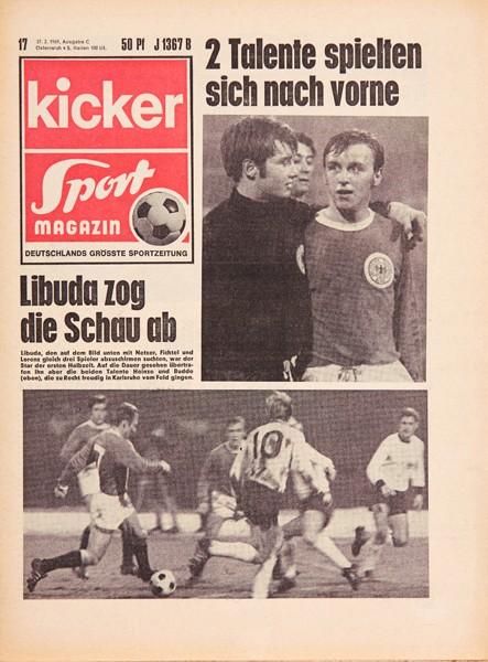 Kicker Sportmagazin Nr. 17, 27.2.1969 bis 5.3.1969