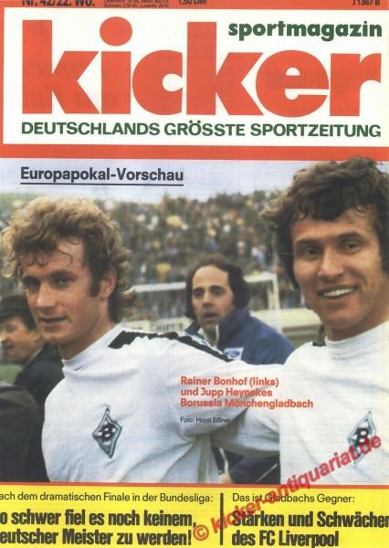 Kicker Sportmagazin Nr. 42, 23.5.1977 bis 29.5.1977