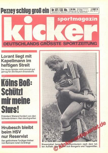 Kicker Sportmagazin Nr. 67, 17.8.1978 bis 23.8.1978