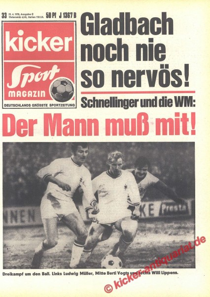 Kicker Sportmagazin Nr. 33, 24.4.1970 bis 30.4.1970