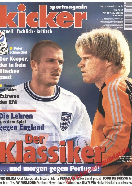 Kicker Sportmagazin Nr. 50, 19.6.2000 bis 25.6.2000