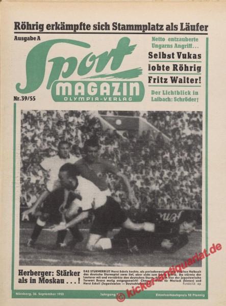 Sportmagazin Nr. 39A, 26.9.1955 bis 2.10.1955