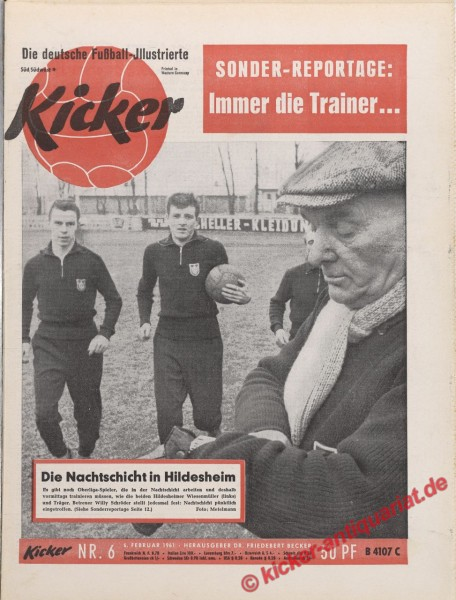 Kicker Nr. 6, 6.2.1961 bis 12.2.1961