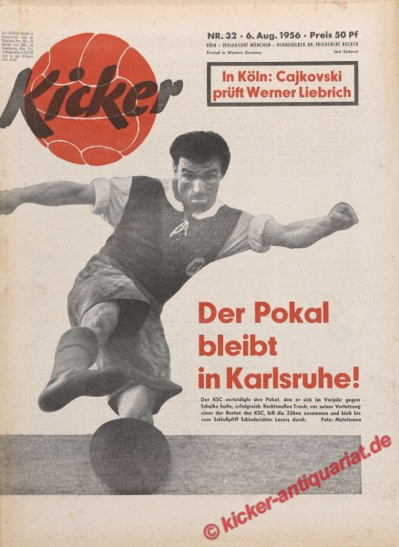 Kicker Nr. 32, 6.8.1956 bis 12.8.1956