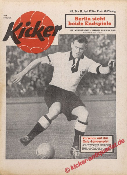 Kicker Nr. 24, 11.6.1956 bis 17.6.1956