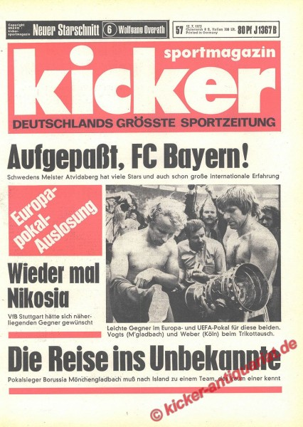Kicker Sportmagazin Nr. 57, 12.7.1973 bis 18.7.1973