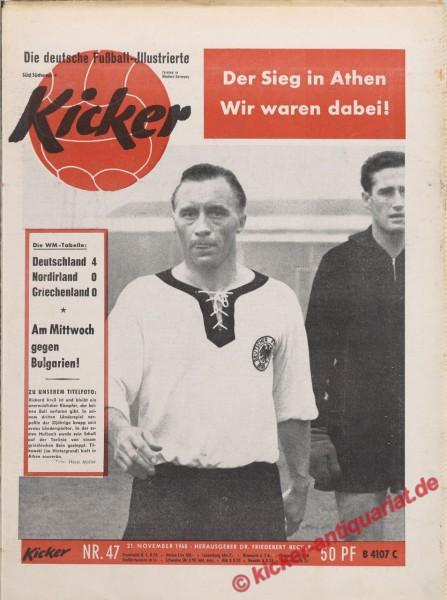 Kicker Nr. 47, 21.11.1960 bis 27.11.1960