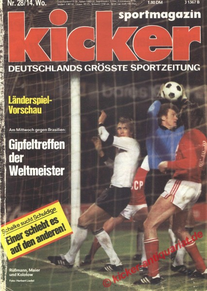 Kicker Sportmagazin Nr. 28, 3.4.1978 bis 9.4.1978