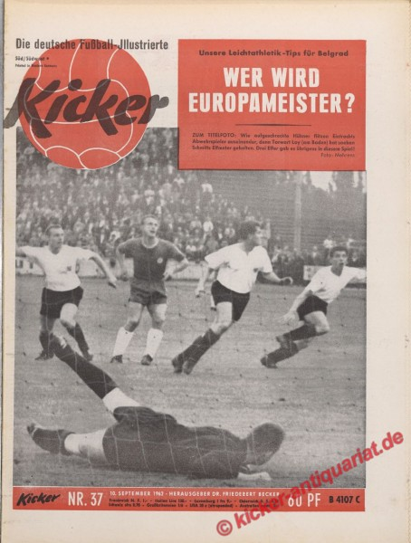 Kicker Nr. 37, 10.9.1962 bis 16.9.1962