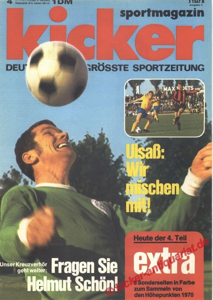 Kicker Sportmagazin Nr. 4, 11.1.1971 bis 17.1.1971