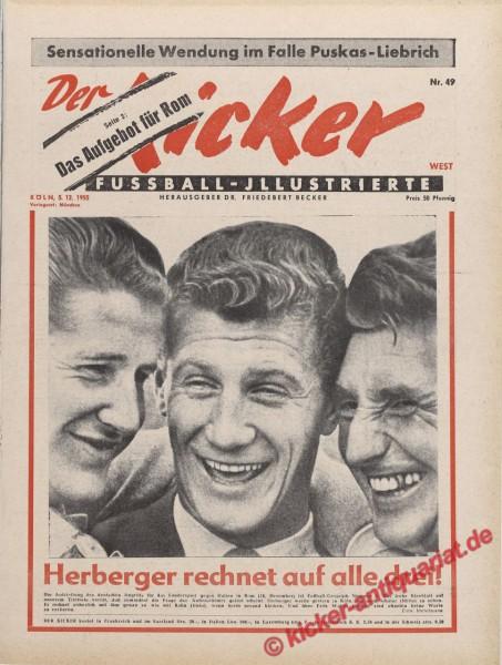 Kicker Nr. 49, 5.12.1955 bis 11.12.1955
