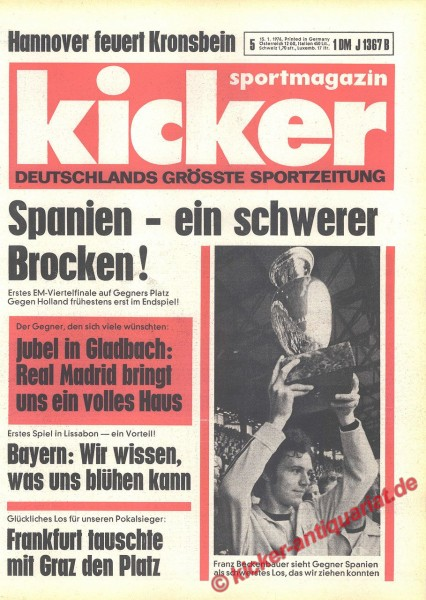 Kicker Sportmagazin Nr. 5, 15.1.1976 bis 21.1.1976