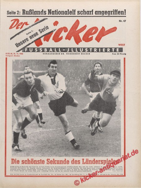 Kicker Nr. 47, 21.11.1955 bis 27.11.1955