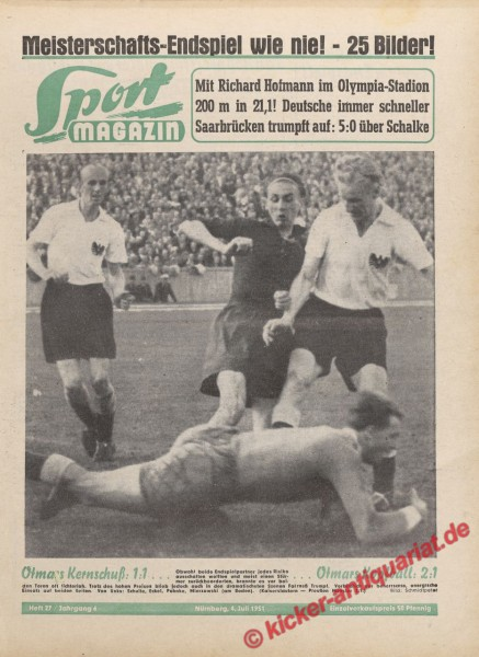 Sportmagazin Nr. 27, 4.7.1951 bis 10.7.1951