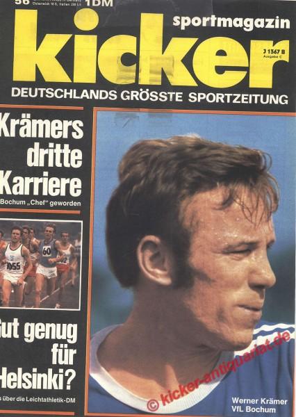 Kicker Sportmagazin Nr. 56, 12.7.1971 bis 18.7.1971