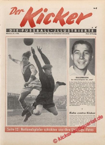 Kicker Nr. 3, 21.1.1952 bis 27.1.1952