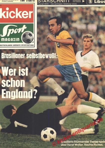 Kicker Sportmagazin Nr. 10, 2.2.1970 bis 8.2.1970