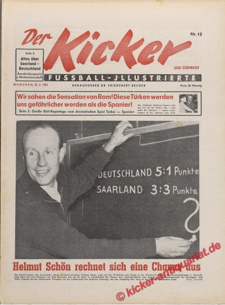 Kicker Nr. 12, 22.3.1954 bis 28.3.1954