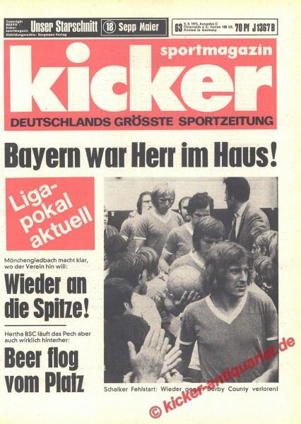 Kicker Sportmagazin Nr. 63, 3.8.1972 bis 9.8.1972