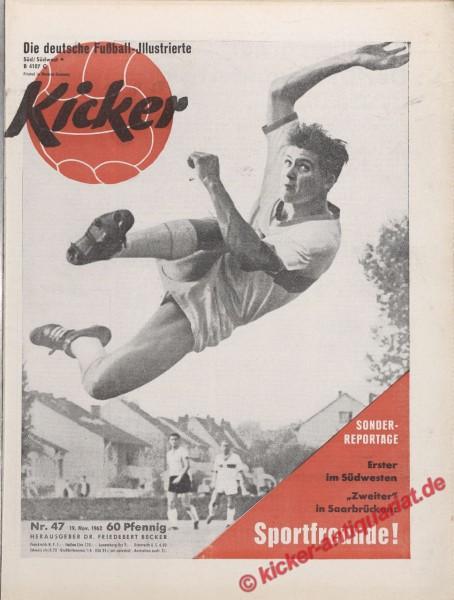 Kicker Nr. 47, 19.11.1962 bis 25.11.1962
