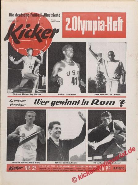 Kicker Nr. 35, 29.8.1960 bis 4.9.1960