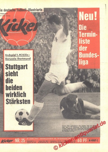 Kicker Nr. 25, 24.6.1963 bis 30.6.1963