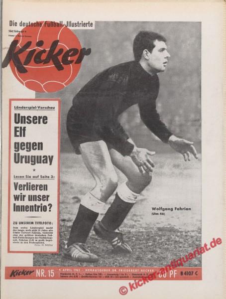 Kicker Nr. 15, 9.4.1962 bis 15.4.1962