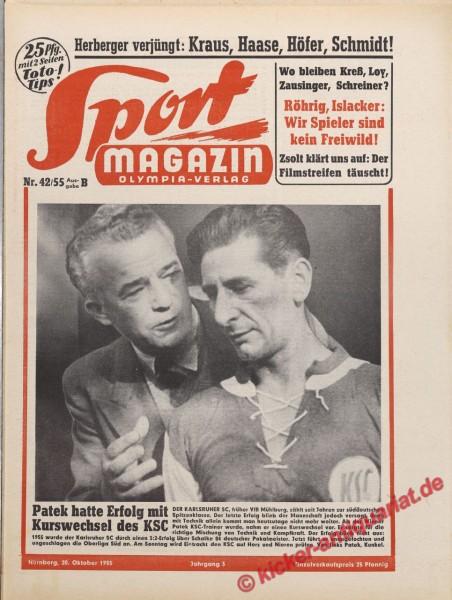 Sportmagazin Nr. 42B, 20.10.1955 bis 26.10.1955