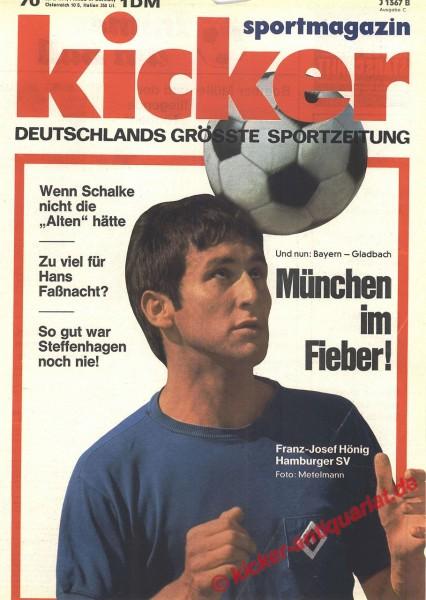 Kicker Sportmagazin Nr. 70, 30.8.1971 bis 5.9.1971
