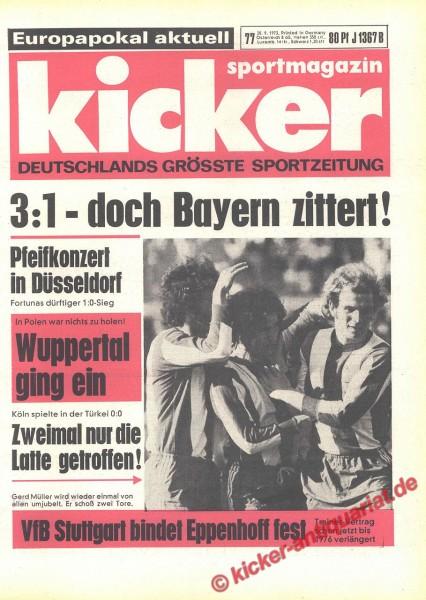 Kicker Sportmagazin Nr. 77, 20.9.1973 bis 26.9.1973