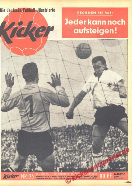 Kicker Nr. 25, 22.6.1964 bis 28.6.1964