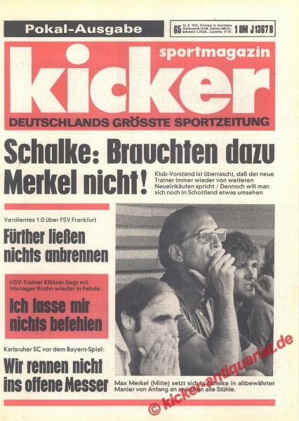 Kicker Sportmagazin Nr. 65, 14.8.1975 bis 20.8.1975