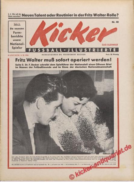 Kicker Nr. 40, 4.10.1954 bis 10.10.1954