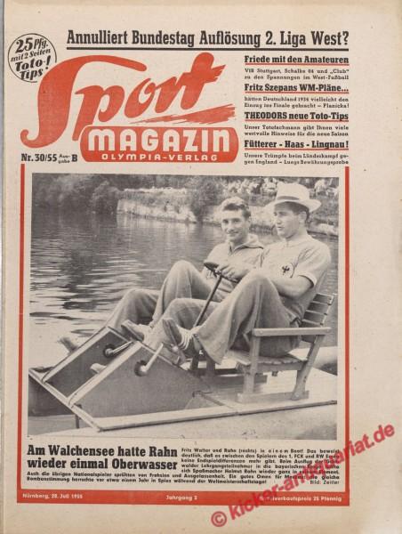 Sportmagazin Nr. 30B, 28.7.1955 bis 3.8.1955
