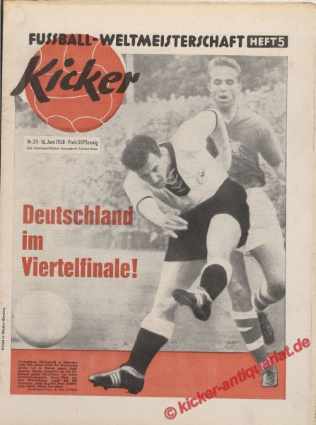Kicker Nr. 24, 16.6.1958 bis 22.6.1958