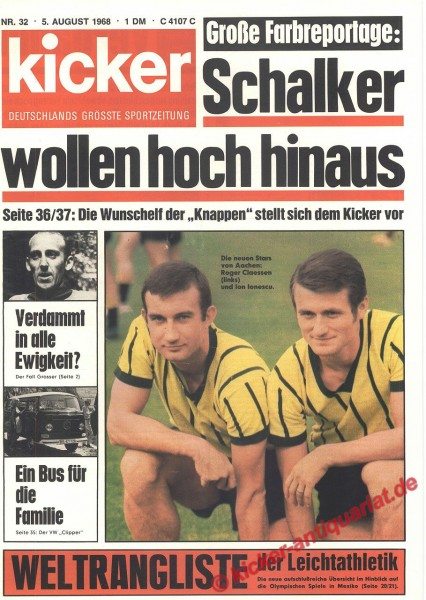 Kicker Sportmagazin Nr. 32, 5.8.1968 bis 11.8.1968