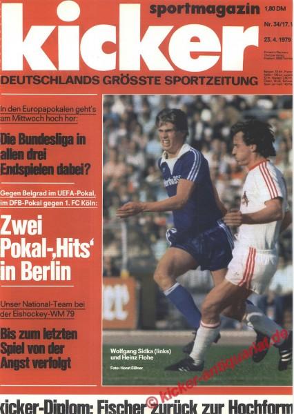 Kicker Sportmagazin Nr. 34, 23.4.1979 bis 29.4.1979