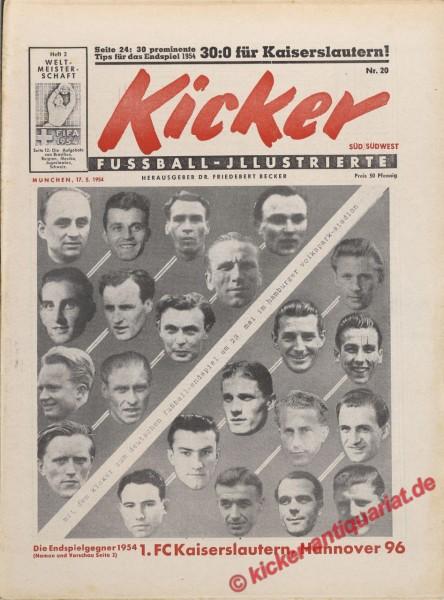 Kicker Nr. 20, 17.5.1954 bis 23.5.1954