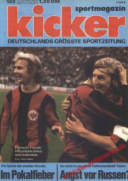 Kicker Sportmagazin Nr. 102, 17.12.1973 bis 23.12.1973