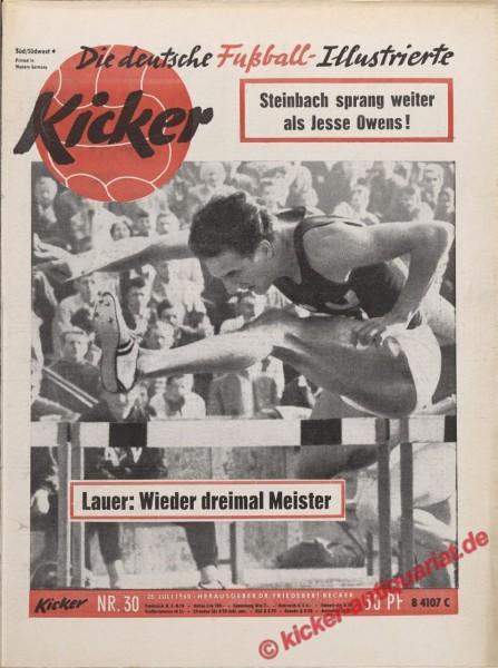 Kicker Nr. 30, 25.7.1960 bis 31.7.1960