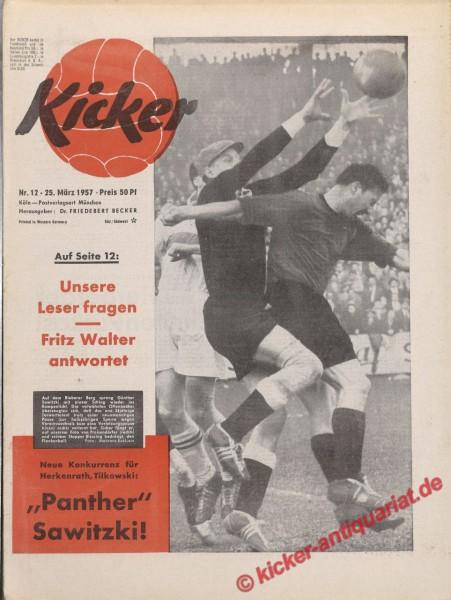Kicker Nr. 12, 25.3.1957 bis 31.3.1957