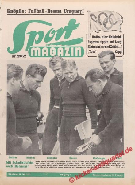 Sportmagazin Nr. 29A, 16.7.1952 bis 22.7.1952
