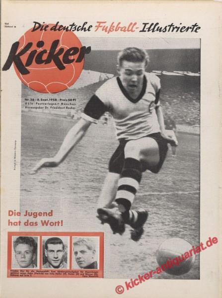 Kicker Nr. 36, 8.9.1958 bis 14.9.1958