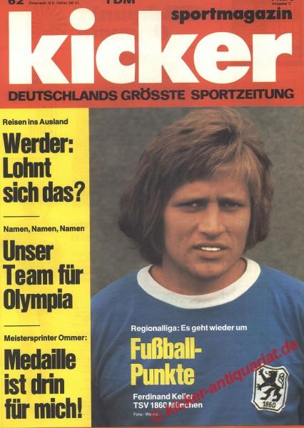 Kicker Sportmagazin Nr. 62, 31.7.1972 bis 6.8.1972